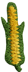 "1 3/8"" by 1/2"" Yellow Corn Applique-0"
