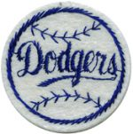 2'' - 5.1 cm - Navy Dodgers Baseball Patch-0