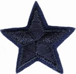 "1"" Iron On Navy Star Applique-0"