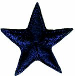 "1 1/4"" - 3.2 cm - Navy Star Applique-0"