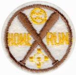 "2"" - 5.1 cm Home Run Patch - Brown-0"