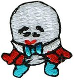 "7/8"" by 3/4"" Iron On Humpty Dumpty Applique-0"