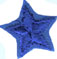 "3/4"" - 1.9 cm - Iron On Royal Blue Star Applique-0"