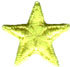 "1"" - 2.5 cm Yellow Star Applique-0"