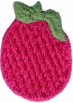"1 1/2"" by 1 1/8"" Red Berry Applique-0"