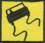 3'' - 7.6 cm - Square Roadsign Patch-0
