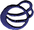 "1 1/8"" by 1"" Iron On Royal Blue Novelty Applique-0"