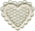 "2"" by 1 3/4"" Natural Heart Applique-0"