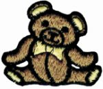 "2 1/4"" by 1 7/8"" Sew On Light Brown Bear Applique-0"