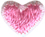 "3/8"" - 1 cm Iron On Pink Heart-0"