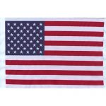 "12 1/2"" by 7 7/8"" Embroidered US Flag Applique-0"