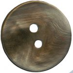 "5/8"" - 16mm Pearled Taupe 2 Hole Button-0"