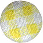 "1/2"" - Yellow/White Plaid - Shank Fabric Covered Button-0"