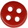 "7/16"" - Red - 4 Hole Button-0"