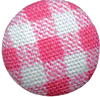 "1/2"" - Pink/White Plaid - Shank Fabric Covered Button-0"