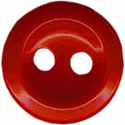 "7/16"" - Red - 2 Hole Button-0"