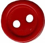 "1/2"" - Soft Red - 2 Hole Button-0"