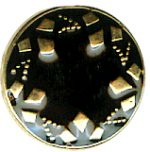 "1/2"" - Gold and Black - Shank Button -0"