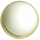"7/16"" - White with Gold Ring - Shank Button-0"