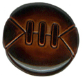 "9/16"" - Brown Sports Ball - Shank Button-0"