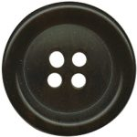 "13/16"" - Dark Brown - 4 Hole Button-0"