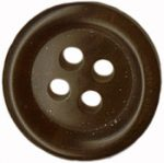 "9/16"" - Dark Brown - 4 Hole Button-0"
