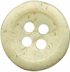 "1/2"" - Variegated Cream - 4 Hole Button-0"