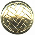 "5/8"" - Gold - Metal Shank Button-0"