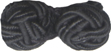 "1 1/8"" by 1/2"" Double Corded Ball - Black-0"