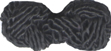 "1 1/4"" by 1/2"" Double Corded Ball - Black-0"