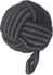 "1/2"" Corded Ball Button with cord Shank - Black-0"