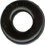 "5/8"" Rounded Black Plastic Circle Embellishment-0"