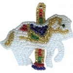 "1 7/8"" by 2"" Beaded & Sequin Carousel Horse Applique-0"