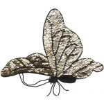 "11"" by 8"" Beaded & Sequin Gold Butterfly Applique-0"