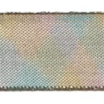 "1 1/2"" Wide Metallic Wired Edge Ribbon - Variegated Gold/Pink/Aqua-0"