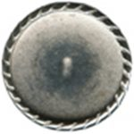 "7/8"" - Distressed Silver Metal - Shank Button -0"