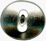 "13/16"" - Shiny Silver - Metal Button-0"
