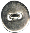 "9/16"" - Shiny Silver - Metal Button-0"