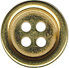"1/2"" - Distressed Gold - 4 Hole Button-0"