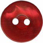 "1/2"" - Red Pearl - 2 Hole Button-0"