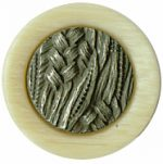 "9/16"" - Shank Button - Beige/Antique Silver Center-0"