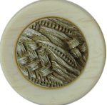 "7/8"" - Shank Button - Beige/Antique Silver Center-0"