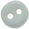 "3/8"" - Clear - 2 Hole - Button-0"
