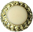 "1/2"" - Gold with Ivory Center - Shank Button -0"