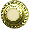 "1/2"" - Gold with Ivory Center - Shank Button-0"