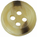 "7/16"" - Variegated Brown - 4 Hole Button-0"