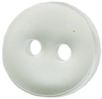 "7/16"" - Clear - 2 Hole Button-0"