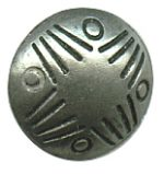 "7/16"" - Distressed Old Silver - Metal Shank Button-0"