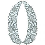 "7 3/4"" by 2"" Silver Metallic Collar-0"