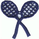 "1 9/16"" by 1 5/8"" Navy Tennis Racket Applique-0"